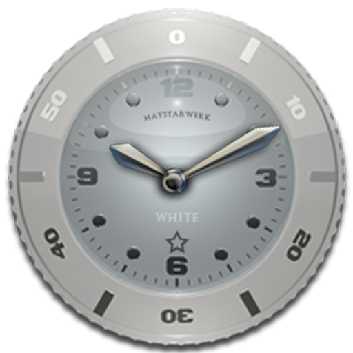 Clock Widget White Star