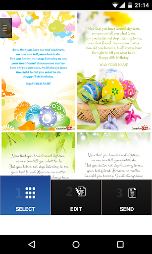 Easter Create Card wishes