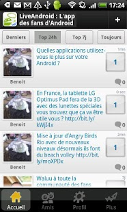 Live Android: Tchat & Forum FR - screenshot thumbnail