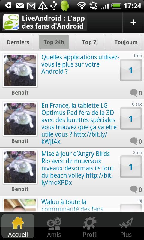 Live Android: Tchat & Forum FR - screenshot