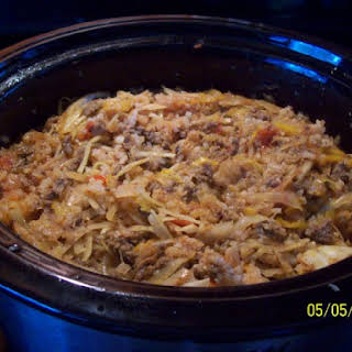 Slow Cooker Unstuffed Cabbage Casserole.