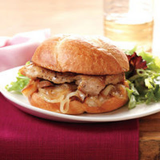 Chicken-and-Sweet Onion Sandwiches with Mixed Greens Salad