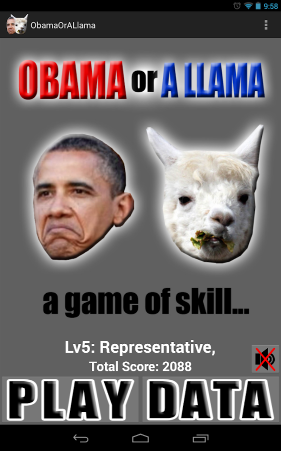 Obama or a Llama- screenshot