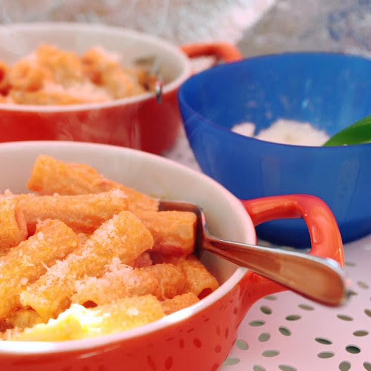 Tortiglioni Pasta in a Pink Sauce
