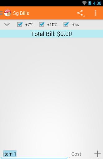 SG Bills Calculator