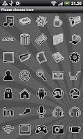 Screenshot of Black GO Launcher EX Theme