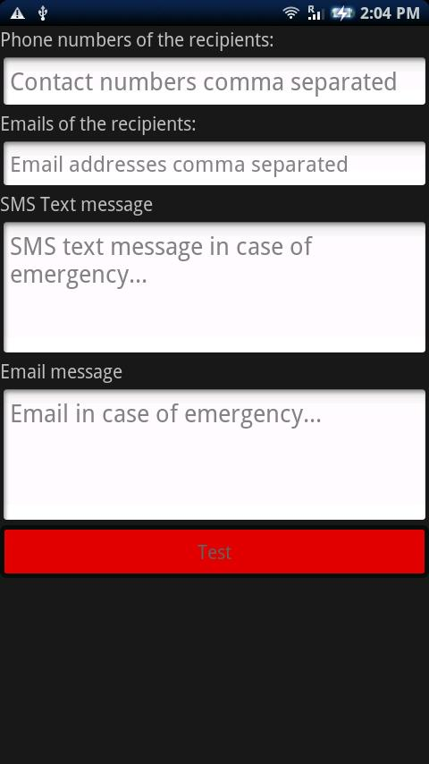 Emergency Alert Button (SOS) - screenshot