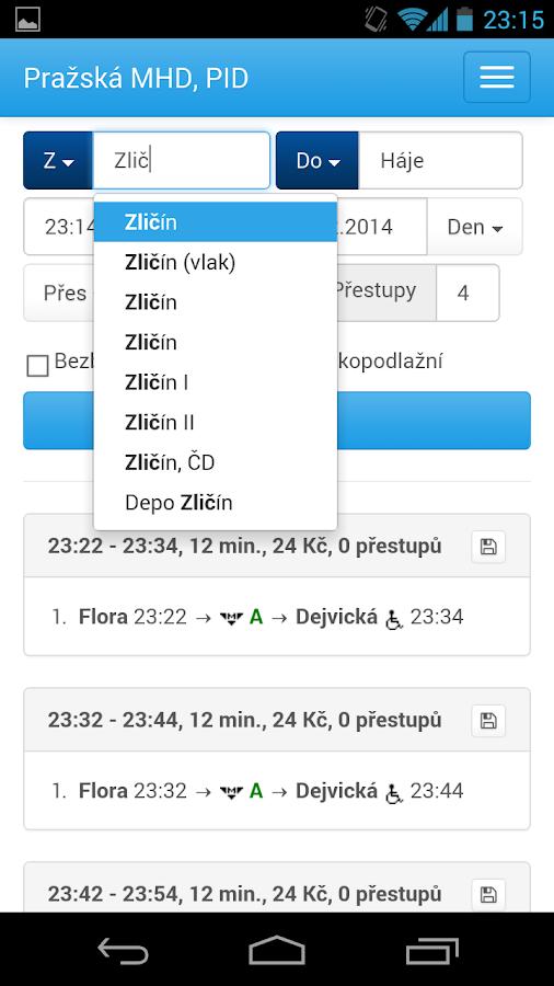 Praha - DPP - pražská MHD- screenshot