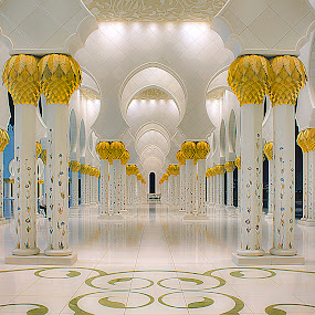 Sheikh Zayed Mosque by Ashraf Ahmed Habib - Buildings & Architecture Architectural Detail ( religion, building, islam, mosque, uae, abu dhabi, architecture, cityscape, gold )