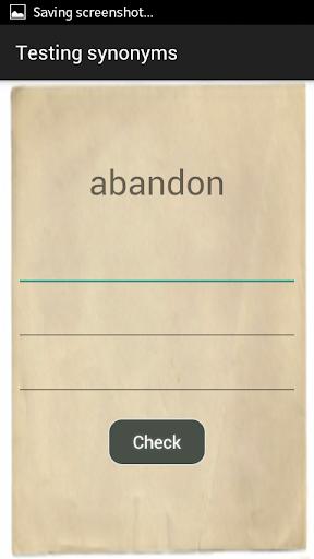 Synonyms Test