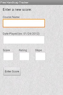 Free Handicap Tracker - screenshot thumbnail