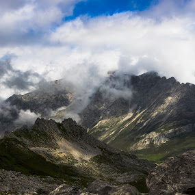 Head in the Clouds by Ian Thompson - Landscapes Mountains & Hills ( nobody, walking, mountain, altitude, landscape, spain, inspiring, hill walking, sky, no people, cloudy, light, clouds, hill, awe, picturesque, picos de europa, mood, scenic, national park, cloud, moody, cantabria, tranquility, stunning,  )