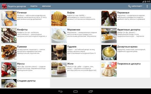 Рецепты десертов