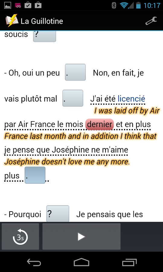 French Interactive Readings- screenshot