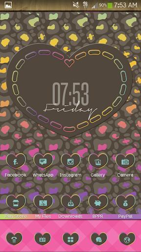 Leopard Heart Go Launcher