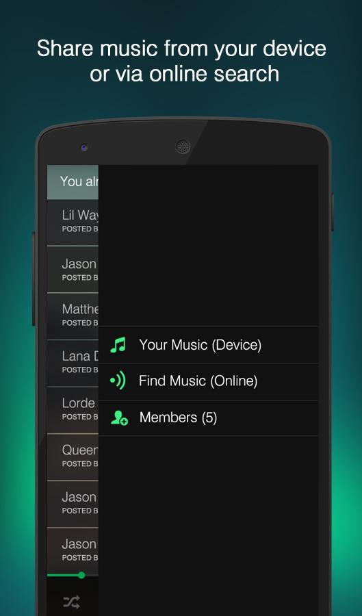 Hitlist - Share Music Player - screenshot