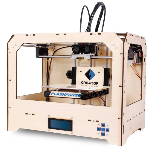 Flashforge creator dual extrusion 3d printer wood 2 for 3d building creator