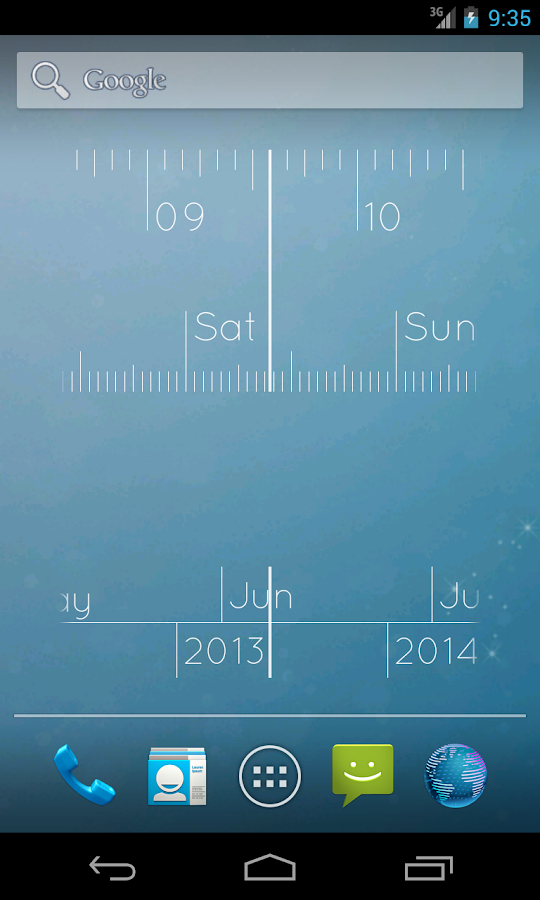 Linear Clock Pro Widget - screenshot