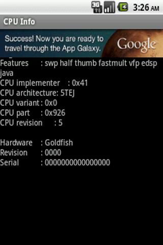 Informações da CPU