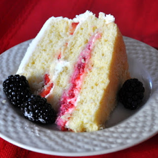 Lemon Layer Cake with Summer Berries