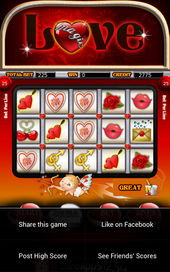 Magic Love Slot Machine HD- screenshot