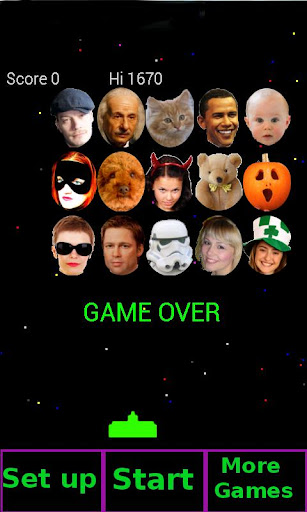 Face Invaders Pro Pie ya mates