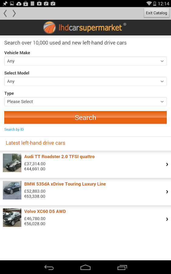 LHD Car Supermarket- screenshot