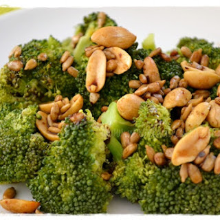 Steamed Broccoli with Peanuts and Soy Sauce.