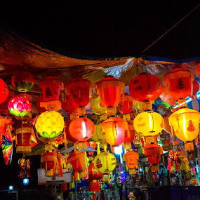 Lanterns of Diwali  by Rushi Chitre - Artistic Objects Signs