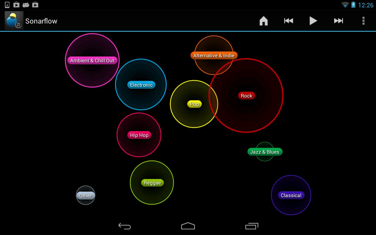 Sonarflow Visual Music Player - screenshot
