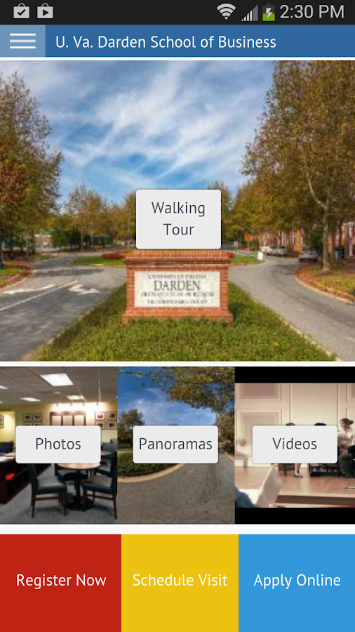 UVA Darden Virtual Tour- screenshot