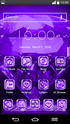 Next Launcher Theme CrystalPur