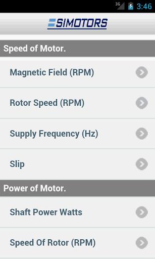 Simotors - motor calculator