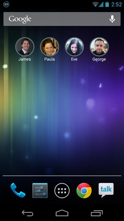 Stylish Contact Widget - screenshot