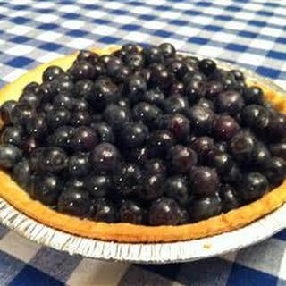 Jan's Fresh Blueberry Pie.