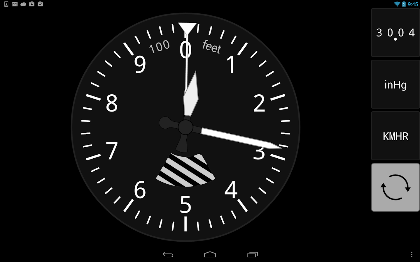 Sensitive Altimeter - screenshot
