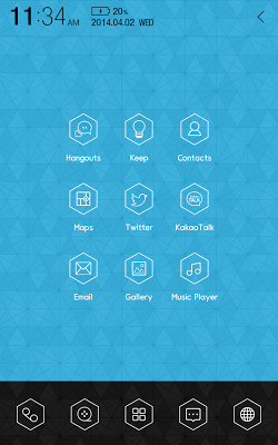Chic HexaCon Atom theme - screenshot
