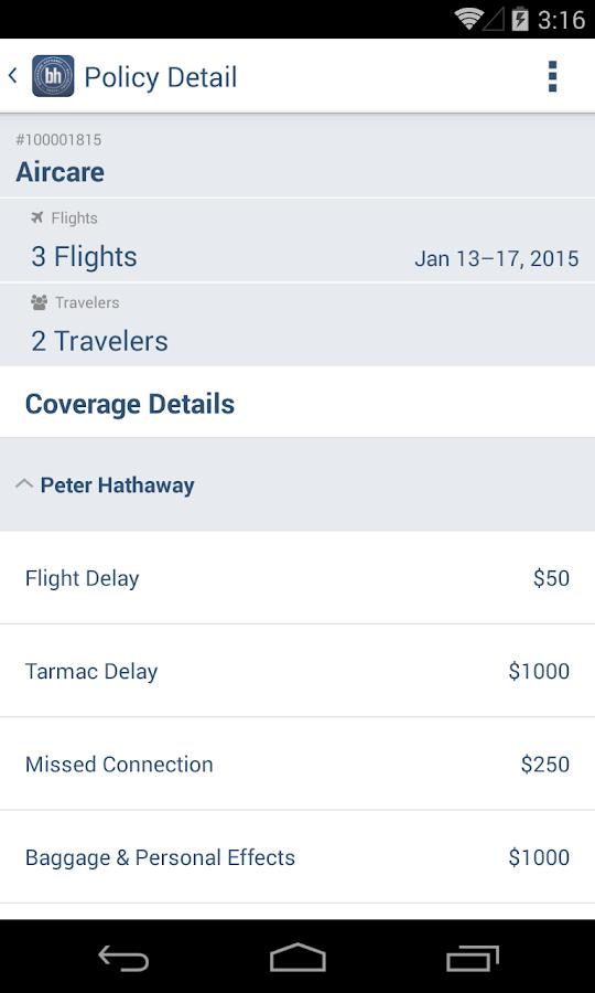 Berkshire Hathaway Travel - screenshot