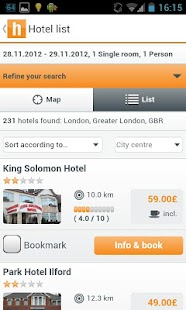 hotel.info - 250,000 hotels - screenshot thumbnail