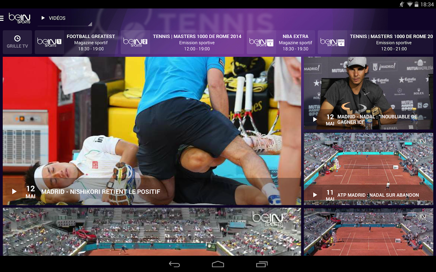 Bein sports applications android sur google play - Grille des programmes bein ...