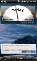 Screenshot of Captain Obvious Clock