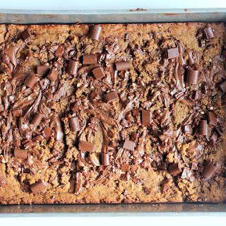 Nutella-Swirled Chocolate Chunk Peanut Butter Blondies {no butter, flourless, gluten-free}