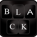 Stylish Black Keyboard icon