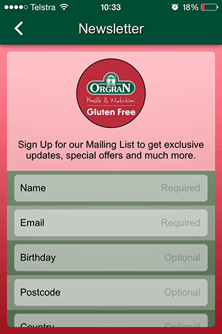 ORGRAN Gluten Free- screenshot