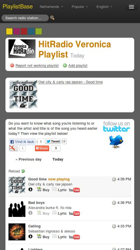 PlaylistBase- screenshot