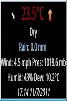 Screenshot of Weather Watch Widget