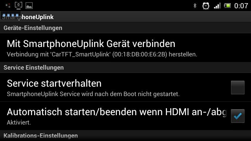 Smartphone Uplink Service-App - screenshot