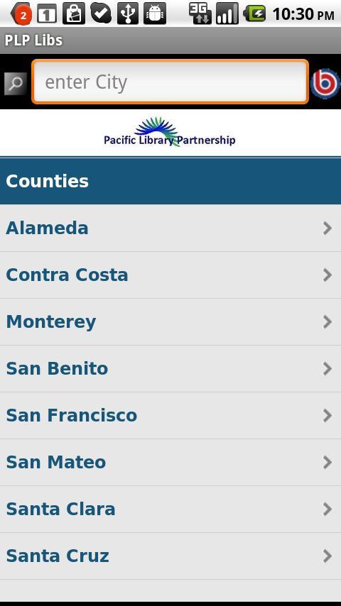 Pacific Library Partnership- screenshot