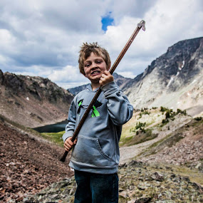 King of the Mountain by Nathan Robertson - People Portraits of Men