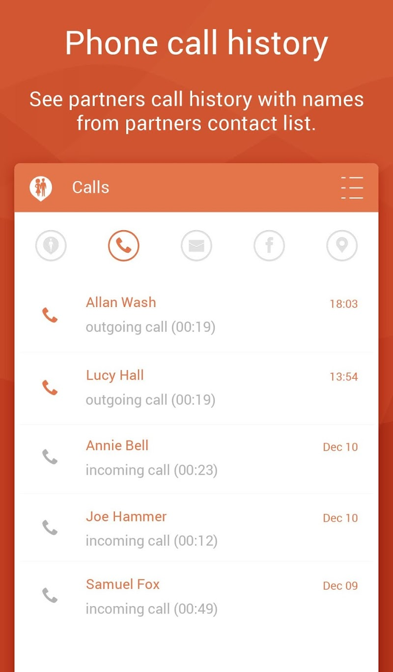 Couple Tracker Pro - Cell phone monitoring Screenshot 9